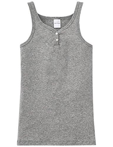 Schiesser - Camiseta Interior para niña, Talla 128 (6-7Y) - Talla Alemana, Color Gris (Grau Mel) 202