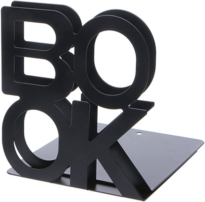 Buleerouy Serre-livres En M/étal En Forme Dalphabet Se Tient Pour Des Livres
