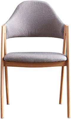 LiaoMu Simple Cushion Chair Backrest Stool Lazy Casual Nordic Chair Home Writing Desk Chair Grey Makeup Chair(Color:Grey)