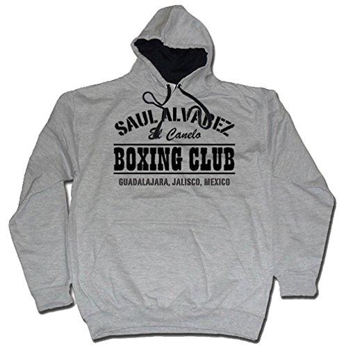 Saul Alvarez Boxing Club México Gym MP3 Sudadera con capucha Negro de Dibbs