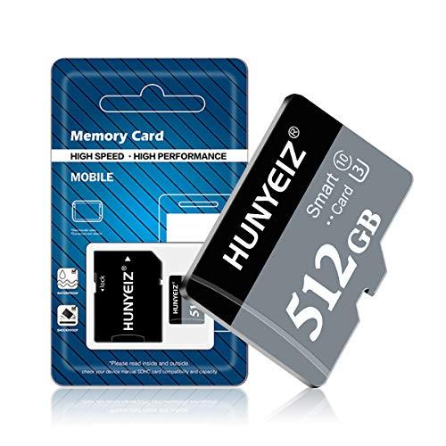 Tarjeta de memoria Micro SD de 512 GB de 512 GB de alta velocidad con adaptador de tarjeta SD para teléfono móvil Android, cámara,...