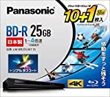 パナソニック 4倍速ブルーレイディスク(追記)25GB10枚+50GB1枚P LM-BR25LW11S
