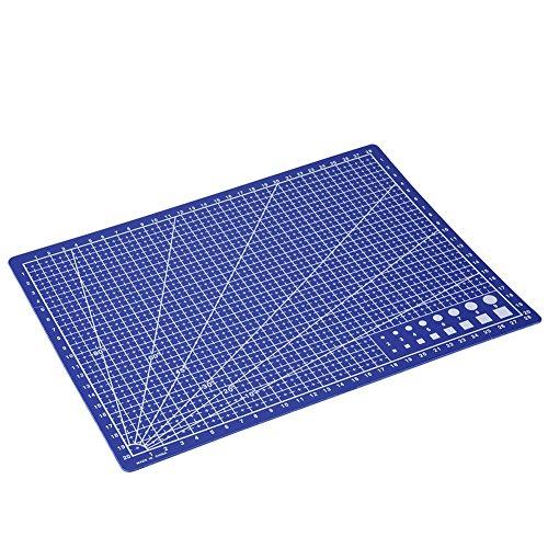 Alfombra de corte antideslizante, tamaño A4, 30 x 22 x 0,15 cm, graduada en cm, para costura, corte de scrapbooking, patchwork y DIY (A4)