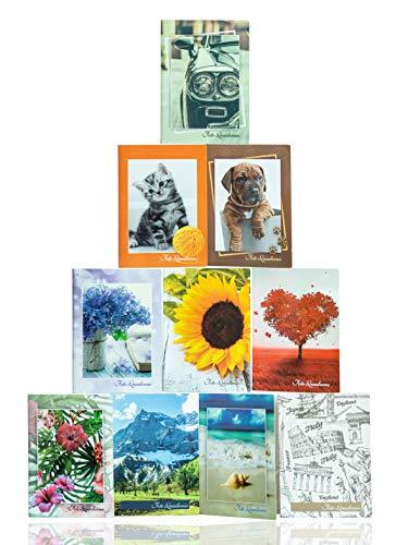 Generico 10 Album Portafoto 12x16 per ospitare 400 Foto 12x16. Copertina in cartoncino con Illustrazioni Diverse e Miste. Ogni Album ha 20 Tasche per Contenere 40 Stampe.