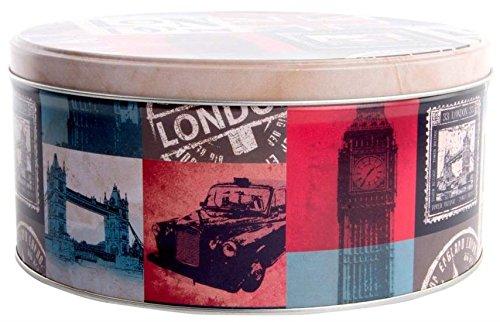 AVENUELAFAYETTE Boîte métal Cuisine Ronde Vintage rétro London - Londres
