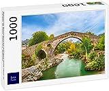 Lais Puzzle El Puente Romano jorobado sobre el río Sella en Cangas de Onis, Asturias, España 1000 Piezas