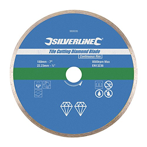 Silverline 993035 Tile Cutting Diamond Disc, 180 x 22.2 mm