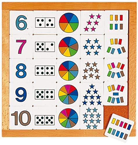 Educo | Educo,Zähldiagramm 6-10 | Lehrmaterialien Mathematik | Mathematik - Rechnen - Zahlensinn und Zählen | Ab 84 Monate | Bis 144 Monate, Farbskala