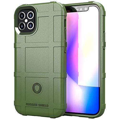 Riyeri Funda Apple iPhone 12 Pro MAX Case [2020] Ultrafina Antigolpes Anti-Arañazos Carcasa con Soporte iPhone 12 Pro MAX Bumper Carcasa Híbrida Antigolpes Resistente (Verde)