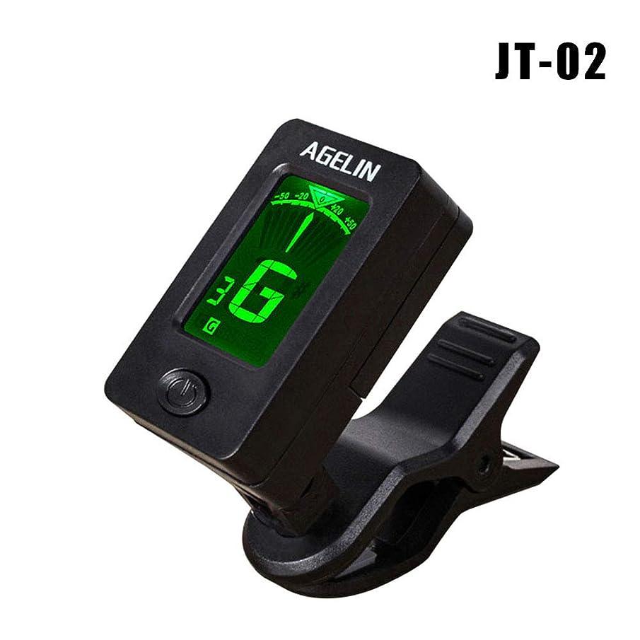 tesyyke Mini Digital Clip Tuner Rotatable Sensitive Accessories for Guitar Bass Violin Ukulele