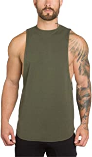 Simayixx Men's Sport Tank Tops, Classic Gyms Bodybuilding Fitness Muscle Sleeveless Singlet T-Shirt Vest 2XL Pullover