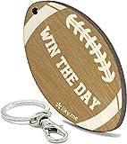 LIKY American Football - Schlüsselanhänger aus Holz graviert für Damen und Herren Sportfans Glücksbringer Schmuck für Taschen und Rucksäcke Geschenk zum Geburtstag