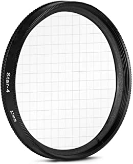 AKOAK 37mm 4-Point Star Filter for Cellphone or Camera Lens