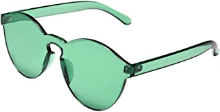 943244cae6 YHMC Gafas De Sol Transparentes De Una Pieza De Color Transparente Color De  Caramelo De Moda