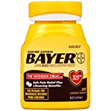 Genuine Bayer Aspirin 325mg Coated Tablets, Pain Reliever and Fever Reducer, 200 Count