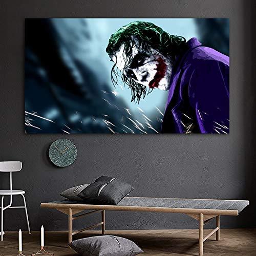 ganlanshu Rahmenlose Malerei Kunstclown Filmplakate und Drucke Leinwandmalerei Wohnzimmer Wandbild Moderne DekorationZGQ6060 30X55cm