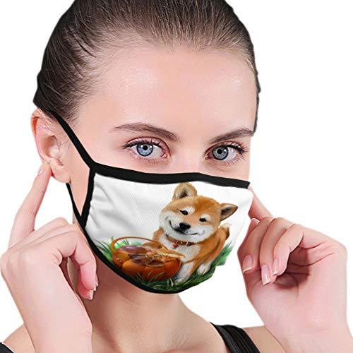 NoneBrand 765 verstelbare oorhoes gezichtsafdekking hond Shiba inu mand paddenstoel aquarel tekening w