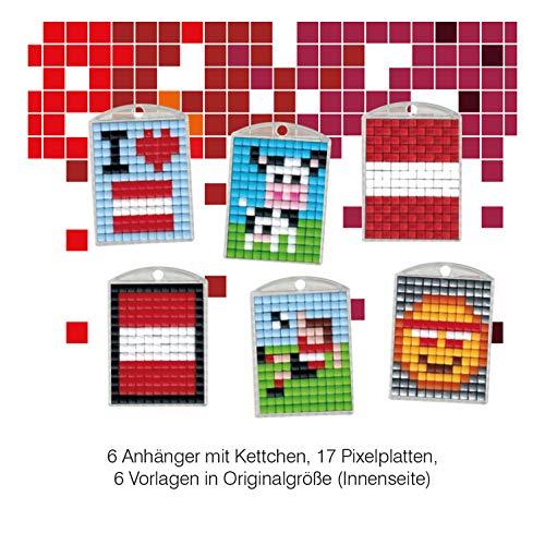 Pracht Creatives Hobby P90078-63501 Pixel Spaß Bastelset 40, für 6 Medaillons, Schlüsselanhänger, für Kinder, Jungen und Mädchen, ideal als kleines Geschenk, Mitgebsel, für den Kindergeburtstag, bunt