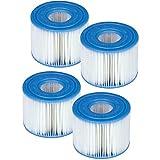 Intex S1 - Lote de cartuchos para filtro de piscina (4 unidades)