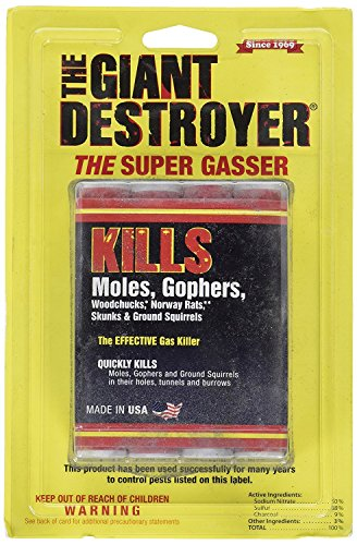 The Giant Destroyer (GAS KILLER) (12/4PK TOTAL) 48 kills Moles, Gophers, Woodchucks, Norway Rats,...