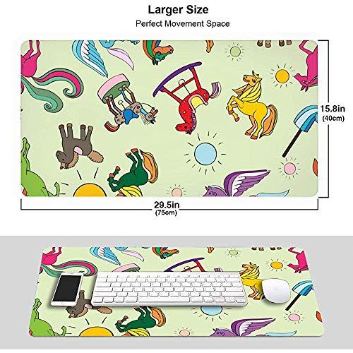 Sun Color Rich Speelgoed Paard Patroon Muismat Mousepad Muis Mat Antislip Rubber Duurzaam