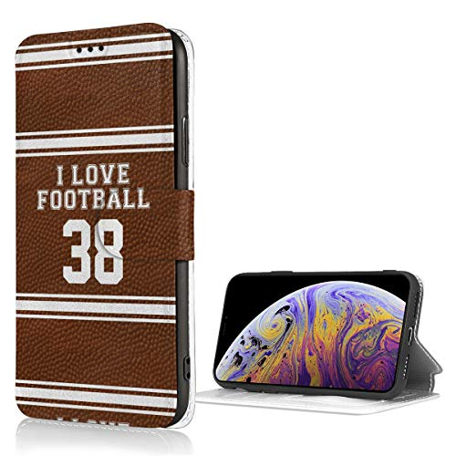 Best Senior Night Football Gifts Wallet Case Credit Card Holder for iPhone X/XS, PU Leather Shockproof Kickstand Protective Cover Flip Cases