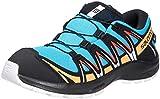 Salomon Kinder XA PRO 3D, Schuhe für Trail Running und Outdoor-Aktivitäten, ClimaSalomon Waterproof Blau/Schwarz (Hawaiian Ocean/Cherry Tomato/Warm Apricot), 36 EU