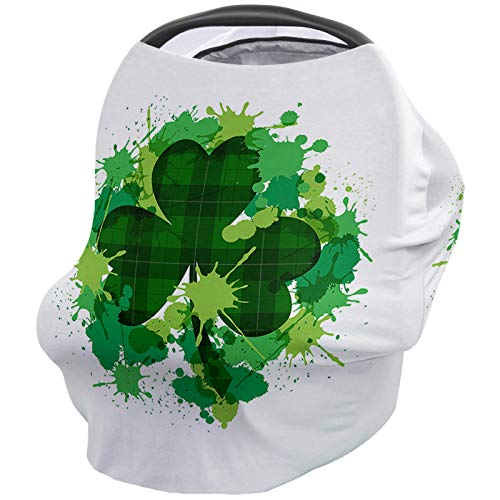 Lowest Prices! Baby Car Seat Nursing Cover for Breastfeeding Scarf, St.Patrick's Day Shamrock, Ultra...