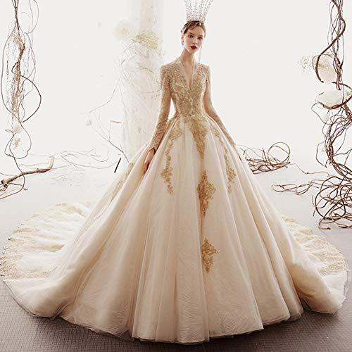 SWEETQT Vestido de Novia Vestidos de Novia de Princesa...