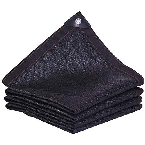 HUYYA Schattennetz Sunblock Sonnenschutznetz, Schattiernetz Netz Sonnensegel Quadratisches Shade Cloth mit ÖSen UV-Schutz füR Garten Blumen Und Pflanzen,Black_10x10m/30x30ft