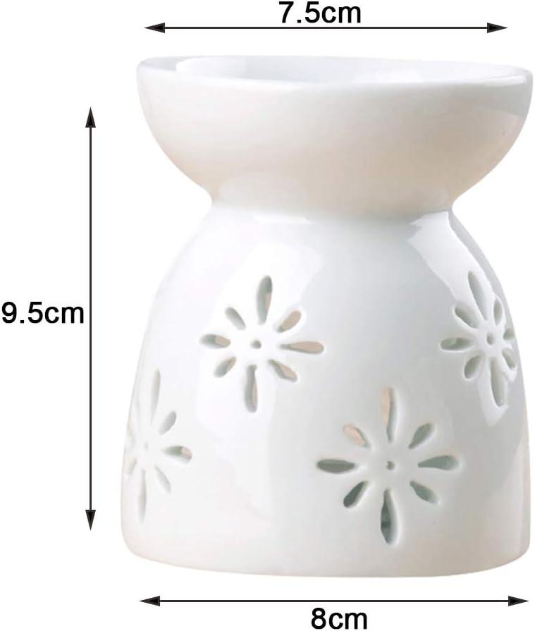 Ceramic Oil Burner,Wax Melt,Aromatherapy Essential Diffuser Candle Holder for Home Decor Meditation