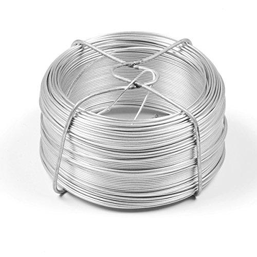 INDUTEC Drahtspinne Drahtrolle Drahtspule Draht verzinkt 1,0 mm - Länge 100 m