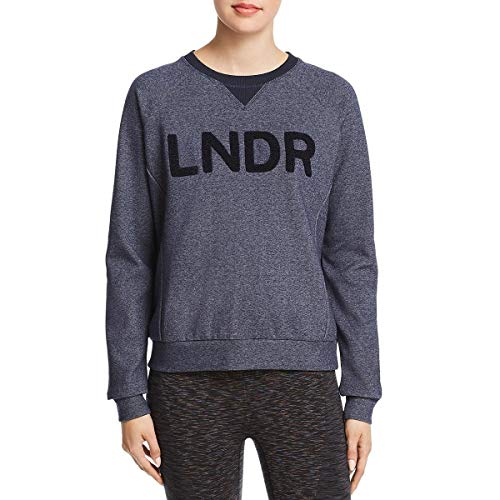 LNDR Womens Logo Crew Neck Sweatshirt Navy S