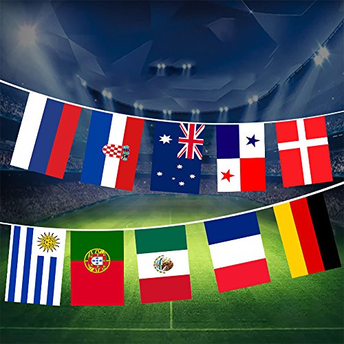 AZX Banderas de 32 Países Copa de Europa, Bandera Nacional del FIFA,Bandera del Fútbol de la Copa Mundial,Tamano 10.5 m
