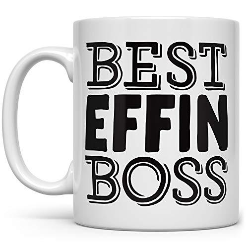 Best Effin Boss Funny Coffee Mug, Boss Appreciation Gift, Boss Mug, Fun Mugs