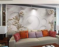 Beibehang壁紙家の装飾ヴィンテージ線画マグノリアメープルリーフリビングルームテレビソファ背景カスタムサイズの壁紙, 400cm×280cm