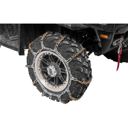 QuadBoss V-Bar Tire Chain - Large/Black