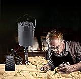 YUCHENGTECH Moulin à bois électrique avec pédale de contrôle pour gravure et ciseau à bois avec poignée 5 lames + commande au pied 220 V