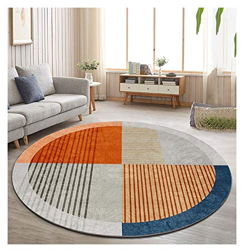 WZLL Round Area Rug Modern Soft Washable for Living Room Bedroom Circle Carpet, Easy to Clean, Ø80cm/100cm/120cm/140cm/160cm/180cm/200cm (Color : A, Size : Ø80cm)