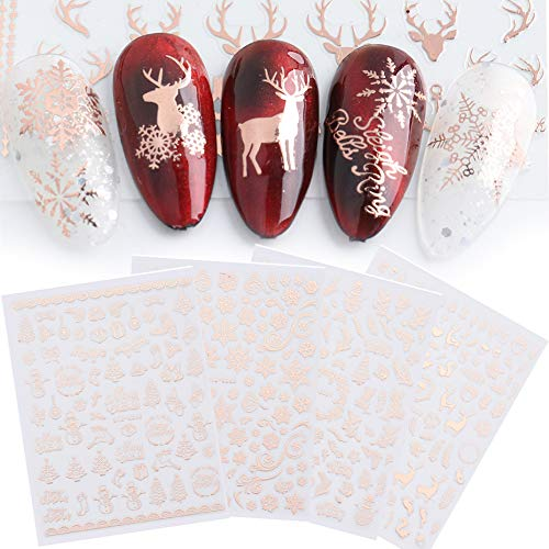 Amazon.com: JMEOWIO 9 Sheets Christmas Nail Art Stickers Decals