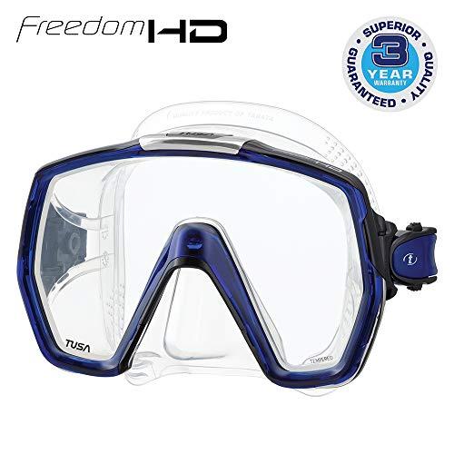 Tusa Freedom HD M1001 Cobalt Blue - Masque de Plongée, Transparente-royal