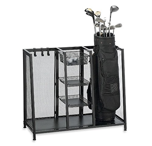 Sturdy and Durable Metal Two Bag Golf Organizer Rack
