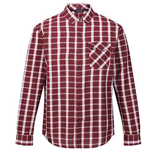 Regatta Lonan Coolweave Herren-Hemd aus Baumwolle, langärmelig, mit Brusttasche XXL Port Royale