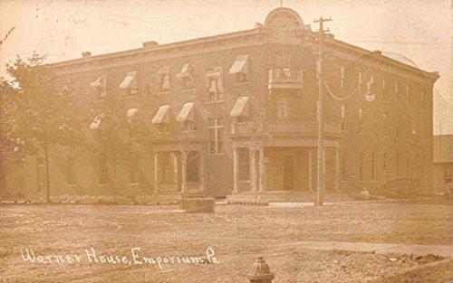 Real Photo Postcard Warner House Hotel in Emporium, Pennsylvania~115601