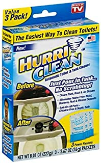 Hurriclean Deluxe 3-Pack New and Improved Automatic Toilet Tank Cleaner No Scrubbing