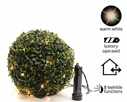 Lumineo Durawise Buxusnetz Batterie, 80 cm 497218