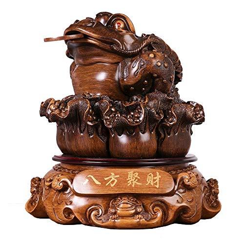 MEELLION Toad Ornamente, dreibeinige Krauthandwerk, Feng Shui Ornament für Wohnzimmer, Reichtumstattstatue für Wohnkultur Schreibtisch Dekoratives Zubehör Love of a Lifetime (Color : Mittel)