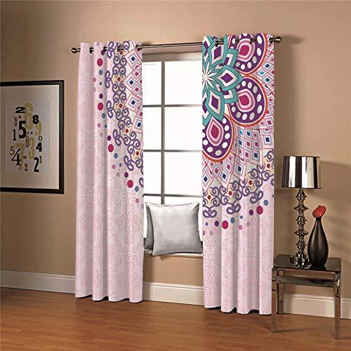 cortinas rosas salon