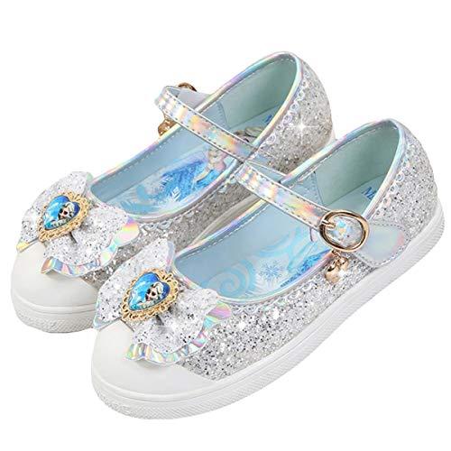 AIYIMEI Scarpe Tacco Bambina Scarpe Principessa Carnevale Bambino Ballerine Ragazza Principessa Costume Eleganti Glitter Cerimonia Sandali per Feste O Battesimi