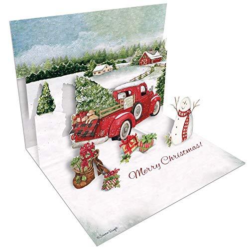 LANG Santas Truck Pop-Up Christmas Cards (2005104)